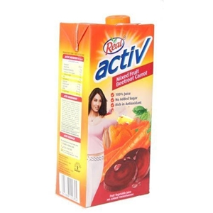 Picture of REAL ACTIV BEETROOT CARROT MIXED FRUIT VEGETABLE JUICE 1 LT CARTON