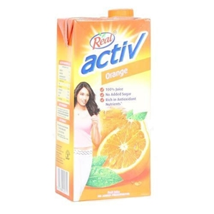 Picture of REAL ACTIV ORANGE FRUIT JUICE 1 LT CARTON