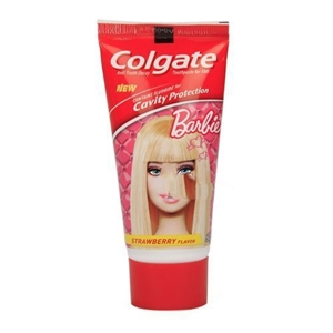 Picture of Colgate Barbie Tooth Paste For Kids Strawberry Flavour 80 Gm Tube