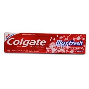 Picture of Colgate Max Fresh With Cooling Crystals Spicy Fresh Red Gel Anticavity Toothpaste 150 Gm Tube