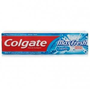 Picture of Colgate Max Fresh Blue Gel Toothpaste Peppermint Ice 150 Gm Tube