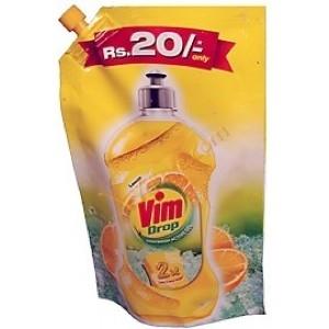 Picture of VIM DROP DISHWASH ACTIVE GEL LEMON 120 ML POUCH
