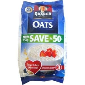 QUAKER OATS MEAL 1.5 KG POUCH