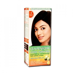 Garnier Color Naturals - Regular Shade 3, Natural Dark Brown, 100 ml