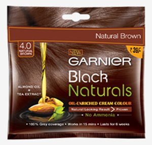 Garnier Black Naturals 4.0 Natural Brown, 40g