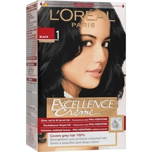 L'Oreal Hair Colour Excellence small pack Black Shade 1