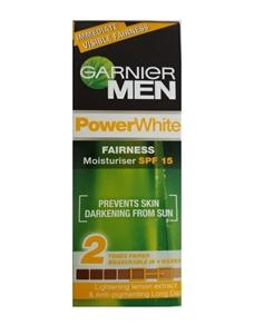 Garnier Men  Power White Fairness Moisturiser SPF 15, 50gm