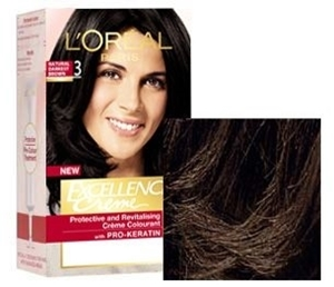 L'Oreal Hair Colour Excellence Natural Darkest Brown Shade 3